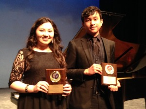 The Junior Philharmonic Society of New Orleans recognized outstanding young artists who performed in last year's concert series and were found to be deserving of special cash awards. Pictured are Christina Hera, who received the Platzer Award for artistic excellence in music, and Ben Mader, who received the Irving Carr Award which is given on the basis of potential. The organization also recognized two other students who were not able to attend the award presentation – Kristiana Bell, who received the John Tobin Award for outstanding performance, and Sarah Weinberg, who received the Scholarship Award to encourage continued studies in the performing arts. The Junior Philharmonic Society of New Orleans recognized outstanding young artists who performed in last year's concert series and were found to be deserving of special cash awards. Pictured are Christina Hera, who received the Platzer Award for artistic excellence in music, and Ben Mader, who received the Irving Carr Award which is given on the basis of potential. The organization also recognized two other students who were not able to attend the award presentation – Kristiana Bell, who received the John Tobin Award for outstanding performance, and Sarah Weinberg, who received the Scholarship Award to encourage continued studies in the performing arts. The Junior Philharmonic Society of New Orleans recognized outstanding young artists who performed in last year's concert series and were found to be deserving of special cash awards. Pictured are Christina Hera, who received the Platzer Award for artistic excellence in music, and Ben Mader, who received the Irving Carr Award which is given on the basis of potential. The organization also recognized two other students who were not able to attend the award presentation – Kristiana Bell, who received the John Tobin Award for outstanding performance, and Sarah Weinberg, who received the Scholarship Award to encourage continued studies in the performing arts.